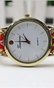 kvinders måde håndlavet flettet band kvarts anolog armbåndsur (assorterede farver)