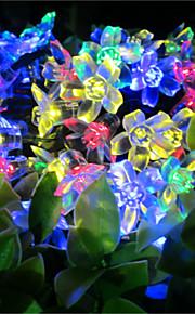 50 førte streng med lysene solenergi fersken lyser vanntette utendørs Christmas Lights streng hagen lys