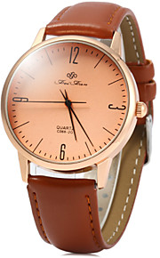 Unissex Relógio de Moda Quartz / Digital Colorido Couro Banda Casual Preta / Branco / Marrom marca