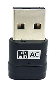 2.4G & 5G Dual Band 433Mbps 802.11AC Wi-Fi USB Adapter