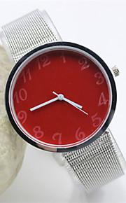 kvinders måde stålbånd kvarts anolog armbåndsur (assorterede farver)
