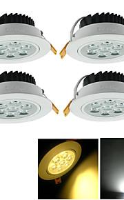 youoklight 4 개 7와트 CRI = 80 700lm 3000 / 6000K 7 높은 전원 (AC85 ~ 265V) 따뜻한 화이트 / 화이트 빛이 매입 형 스팟 조명 주도