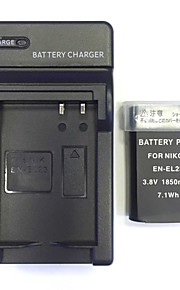 US / UK / EU 4.2V en-el23 thuisoplader + (1st) batterij voor Nikon Coolpix P600 s810c P900's
