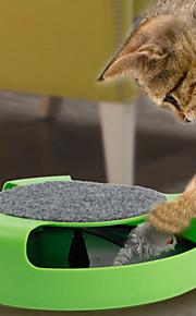 Gatos Brinquedos Interativo / Rato de Brinquedo Track Plástico Verde