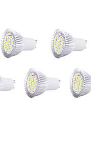 5PCS는 16xsmd5630 650lm 따뜻한 / 차가운 백색 빛이 자리 전구를 주도 8w GU10 (220V)를 hry®
