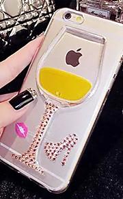 lady®elegant / luksuriøse telefon etui til iPhone 6 plus / 6s plus (5,5 tommer), dekoreret med silikone materiale, flere farver