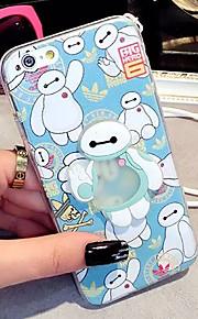 lady®elegant mobil luminuse tilfælde / cover til iPhone 6 / 6s (4.7), med silikone materiale og tegneserie stil