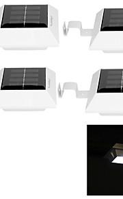 youoklight® 4stk 0,5 W 4-ledede hvitt lys solenergi panel lys for hagen lys solenergi lampe-hvite