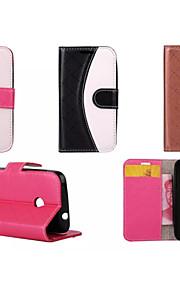 pu läder hela kroppen fall fall med stativ plånbok blandad färg Fodral till Nokia Lumia 535