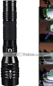 LED Lommelygter ( Vanntett / Genopladelig / Nedslags Resistent / Strike Bezel / Taktisk / Nødsituation / Zoomable ) - LED 5 Tilstand 1200