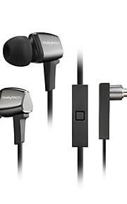 fone de ouvido estéreo de alta nos fones de metal fone de ouvido fones de ouvido viva-voz com microfone 3.5mm para fones jogador samsung