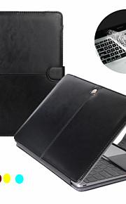망막 + 투명 키보드 커버 protecter와 맥북 프로 13''15 ''1 PU 가죽 노트북 케이스 커버 패션 2
