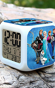 High Quality Creative Fashion Unique Colorful Small Alarm Clock LED Electronic Gifts / Cartoon Alarm Clock