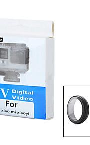 mini-lente filtro sorriso ™ plástico uv com lente de cobertura definido para Xiaomi xiaoyi câmera de esportes - preto