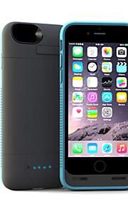 mfi 4500mAh lyn-kontakt makt bank backup tilfellet med stativ for iPhone 6 pluss (assorterte farger)