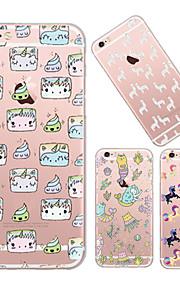 maycari®paradise kleine Einhörner TPU Tasche für iPhone 6 / iphone 6s (verschiedene Farben)