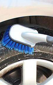 LEBOSH Car Cleaning Brush Wash Brush Soft Handle Tire Brush