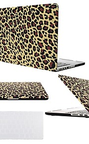 "2 in 1 Brown Leopard Hard Plastic Cover for MacBook Air Pro Retina 11"" /13"" /15""  with Transparent Keyboard Cover"