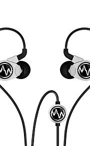 gt100s arara HiFi com microfone do fone de ouvido intra-auricular (prata e preto)