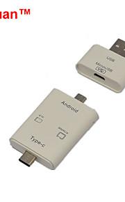 cwxuan ™ 3-en-1 USB 3.1 tipo c / usb lector de tarjetas 2.0 / micro USB OTG