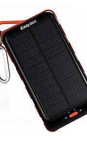 EasyAcc Classic 15000mAh Solar Panel Power Bank with Flashlight External Battery Portable Charger
