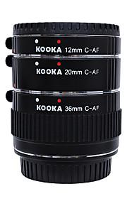 kk-c68 auto cobre metálico foco af macro tubo de extensão tet para canon 70d 5D2 5D3 7d 6d 650D 600d 550d