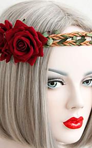 Seda / Poliéster Rosas Flores artificiais