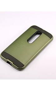 armadura franja trefilado estuche rígido de la PC + del silicón de la cubierta de la piel para Motorola MOTO g3