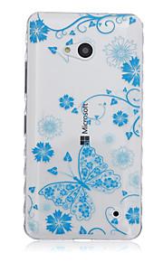 Modelo azul de la mariposa caja del teléfono del tpu material para Nokia N640