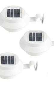3 stk solcelledrevet gutter dør gjerdet veggen LED lys utendørs hage belysning