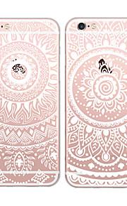 maycari®charming weiße Mandala tpu zurück Fall für iPhone 6 / iphone 6s (verschiedene Farben)