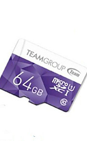 Original TEAM TF(Micro-SD) Card Class10 (64GB) TUSDH64GCL Memory Card