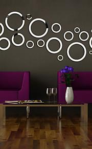 Formas / 3D Wall Stickers Autocolantes de Parede Espelho , PS 130*46cm