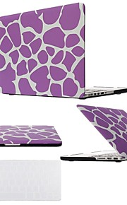 "2 in 1 Purple Leopard Hard Plastic Cover for MacBook Air Pro Retina 11"" /13"" /15"" with Transparent Keyboard Cover"