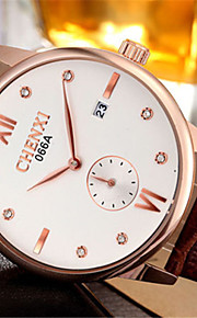 Aidu cinto de couro de alta qualidade de quartzo japonês relógio à prova d'água nova do homem