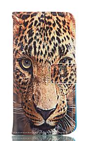 motif léopard cuir PU cas de tout le corps avec fente pour carte et d'éligibilité pour Samsung Galaxy Note 4 / note 5