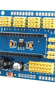 Multifunctional Nano UNO Expansion Board for Arduino Duemilanove 2009 / UNO R1 - Yellow + Blue