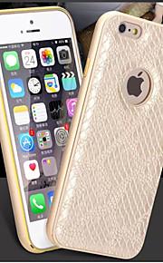 hzbyc® nye serpentin luksus skinn linjer ekte lær metall tpu integrert ramme sak for Apple iPhone 6 / 6s