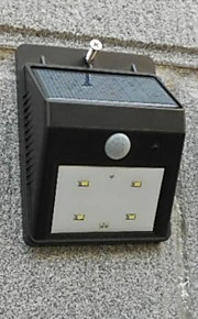 (2 stk) høy kvalitet solenergi 4 LED lys vanntett menneskekroppen induksjon lampe / vegglampe / hage gårdsplass utendørs lampe