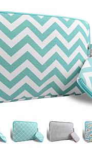 loelmall ® tragen Laptop-Hülle Canvas-Gewebe von 13 bis 13,3 Zoll (grüne Streifen)
