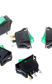 Green Rocker Switch 16 * 32mm Tripod 3P Power Rocker Switch
