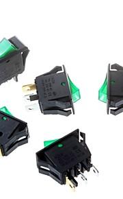 Green Rocker Switch 16 * 32mm Tripod 3P Power Rocker Switch
