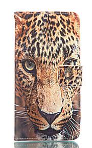 motif léopard cuir PU cas complète du corps avec des fentes de cartes et d'éligibilité pour Samsung Galaxy A5 / A7