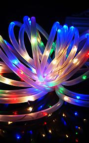 konge ro ny solar 24.6ft 50led rgb bryllupsfesten dekorasjon lys utendørs vanntett tau lys