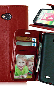Luxury PU Leather Card Holder Wallet Stand Flip Cover With Photo Frame Case For LG L70 (Assorted Colors)