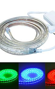 Jiawen 300cm vanntett 18W 180-5050smd 8-modusen RGB LED fleksibel lys stripe (AC110 ~ 220V)