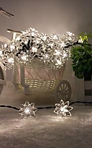 konge ro solar 26.24ft 60led lotus fancy bryllupsfesten dekorasjon lys utendørs vanntett string lys