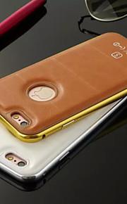 hzbyc®luxury skinn linjer ekte lær metall tpu integrert ramme sak for Apple iPhone 5 / 5s