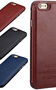 lusso hzbyc®new del cuoio genuino per il metallo integrata caso della struttura per il iphone 6 / 6s 4.7 (colori assortiti)