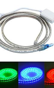 Jiawen 100cm vanntett 6w 60-5050smd 8-modusen RGB LED fleksibel lys stripe (AC110 ~ 220V)